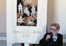 Sansepolcro : Palio della Balestra, il drappo creato dalle merlettaie del Borgo.Realizzato per la prima volta anche il drappo per il Palio dei Rioni. Ma non sarà consegnato