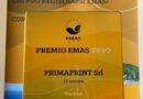 """Premio Emas 2020 all'azienda grafica ed editoriale """"Primaprint"""" che ha a cuore l'ambiente. L'azienda di Viterbo si è aggiudicata il premio per le sue molteplici iniziative di uso del logo Emas"""
