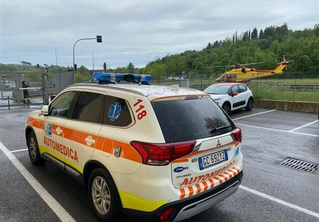 Montepulciano: due incidenti hanno coinvolto un automobilista e un centauro. Il primo è stato portato con Pegaso a Careggi; il secondo alle Scotte