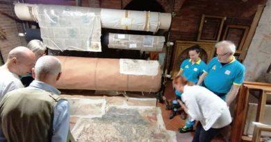 Asciano: nei giorni scorsi hanno fatto ritorno tra le mura amiche di Palazzo Corboli 21 frammenti di affresco che erano stati staccati negli anni '90 e poi depositati in custodia nella Pinacoteca Nazionale di Siena